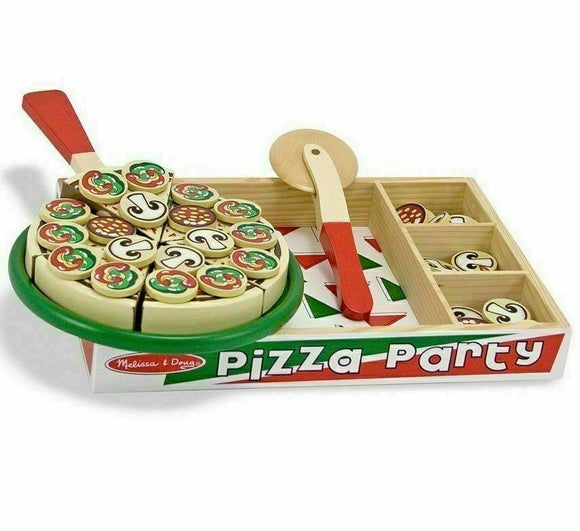 Pizza Party Wooden Play Food Set