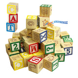 Wooden ABC and 123 Building Blocks