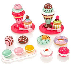 Wooden Cakes and Ice Creams Set