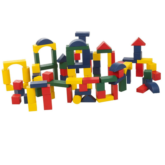 Classic Wooden Building Blocks 75-200 Pieces.