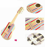 Wooden Striped Guitar