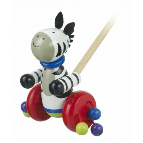Zebra Push Along Wooden Toy