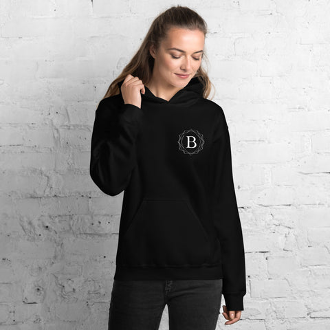 BalletBeFit Printed Back Unisex Hoodie Black