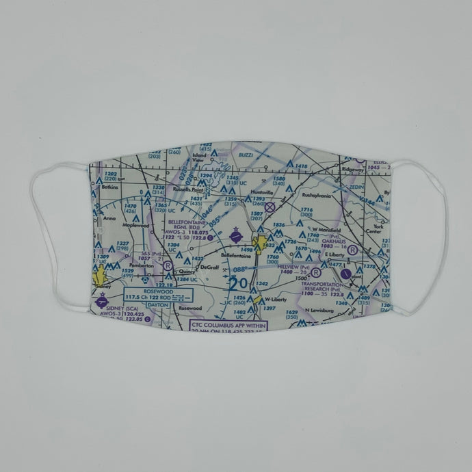 Custom U.S. Aeronautical Chart Face Mask