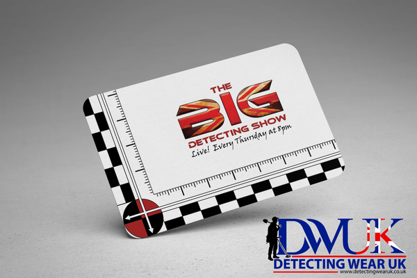The Big Detecting Show Aluminium Scale Card