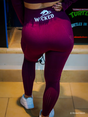 Wicked Leggings Crimson Red