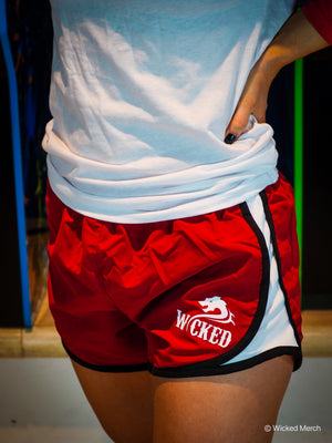 Women's Workout Running Shorts Red