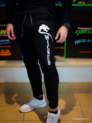 Sweatpants Men's Wicked Black White