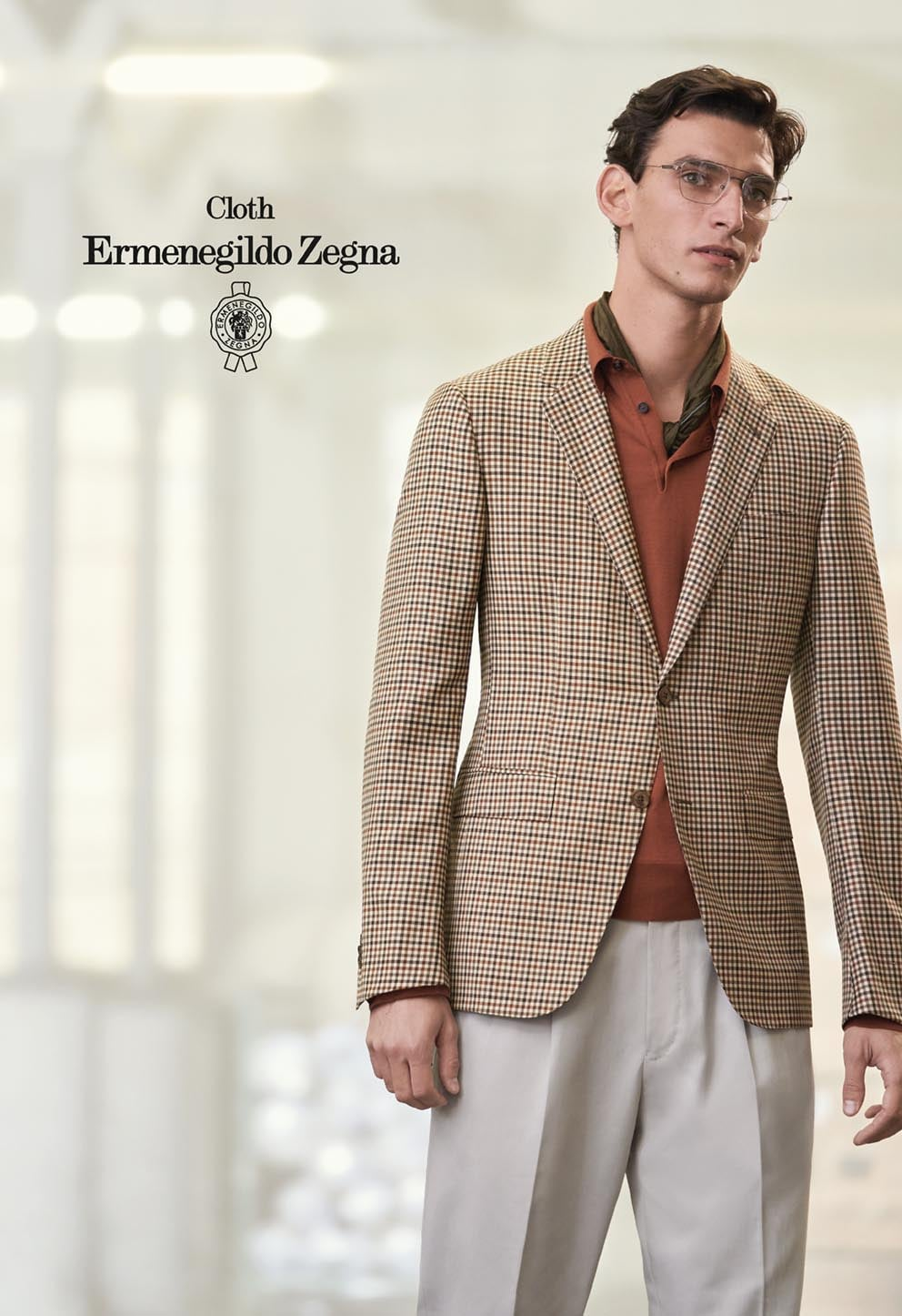 E. Zegna Wool Silk Traveller