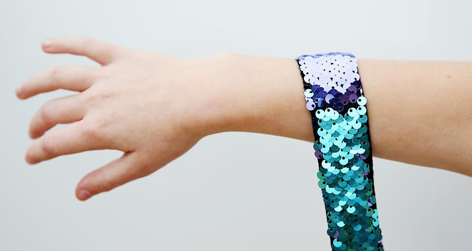 mermaid slap bracelet