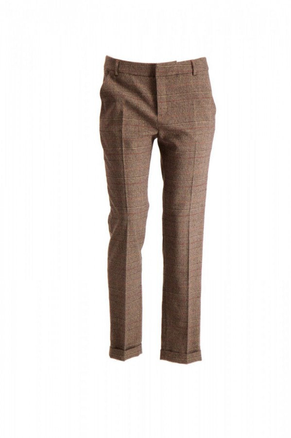 Pantalon marron Prince de Galles