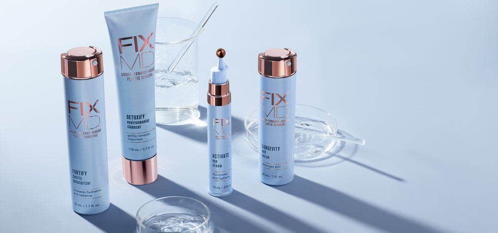 4-Step Skincare Regime that is anti-aging and youth preserving skincare created by plastic surgeons.