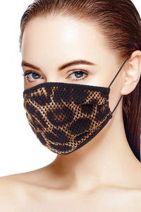 Mesh Leopard And Camouflauge Print Face Mask