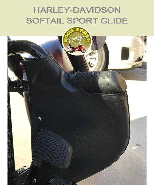 Softail Sport Glide with black engine guard chaps
