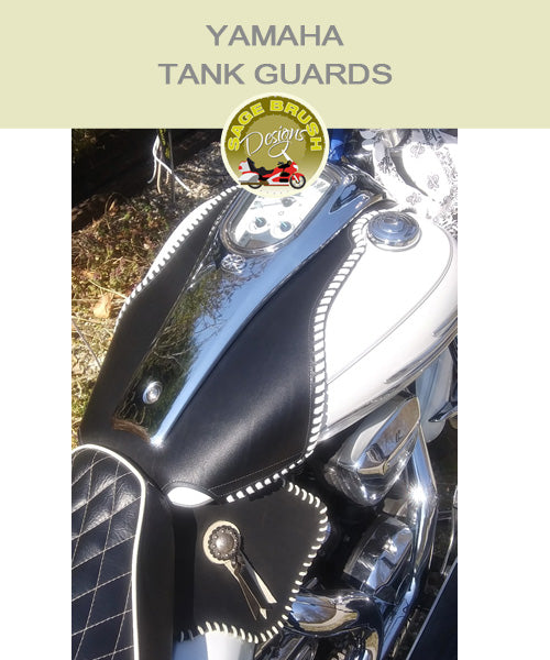 Yamaha Large Roadliner Tank Guard with Custom Lacing