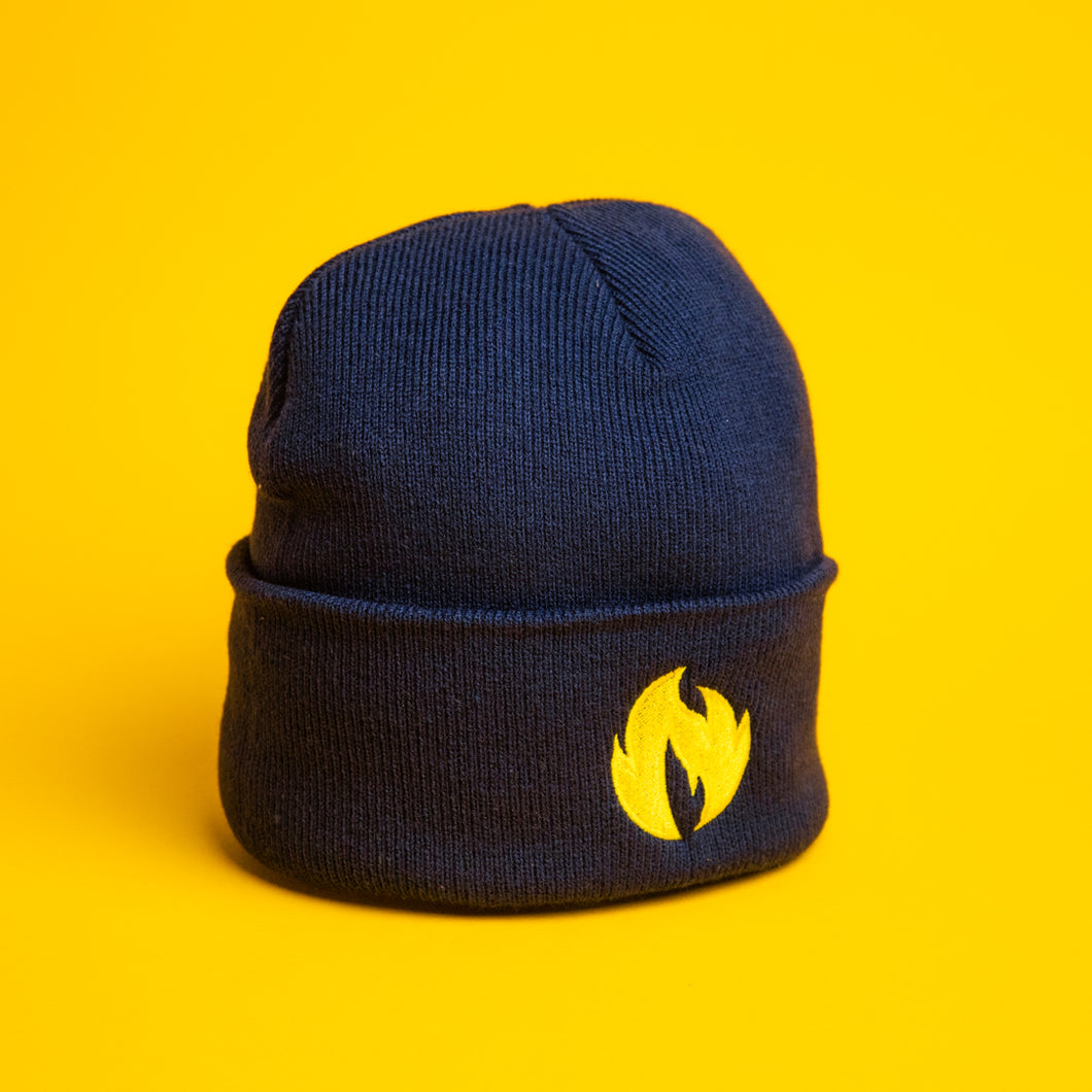 Keep Leeds Warm Navy Beanie