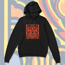 Load image into Gallery viewer, Keep Leeds Warm Black Pullover Hoody