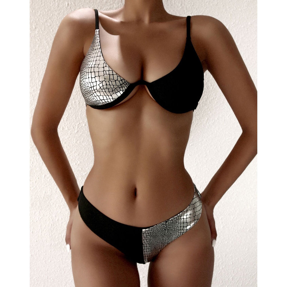 Patchwork Sexy Push Up Bikini Swimwear - MorphU LLC