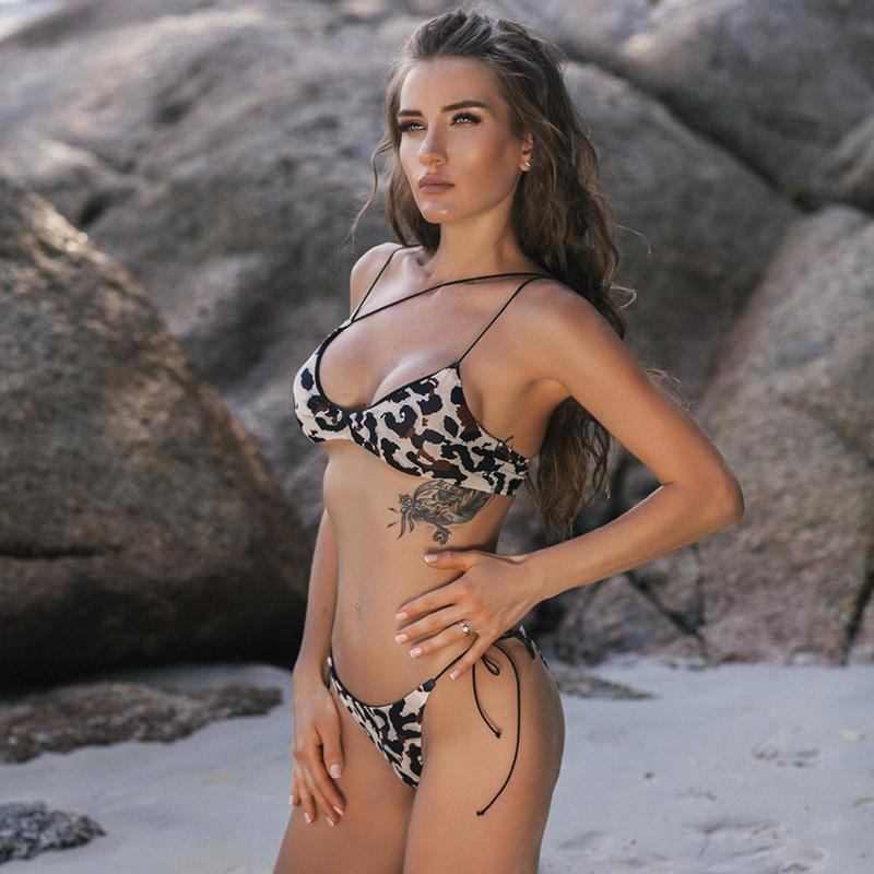 Load image into Gallery viewer, Sexy Leopard Printed Bikini Set
