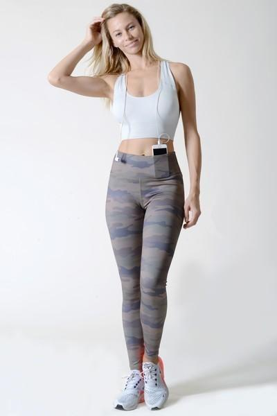 Women's Active High Rise Camouflage Leggings (S-L)