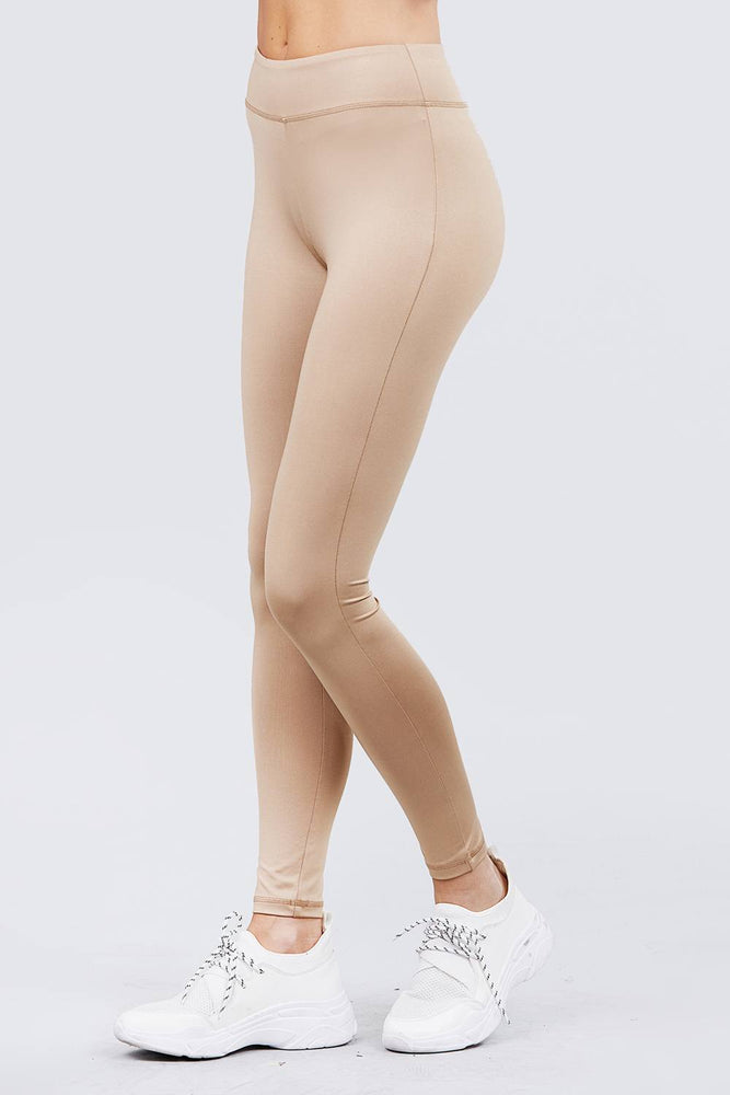 Khaki Workout Full Length Leggings - MorphU LLC