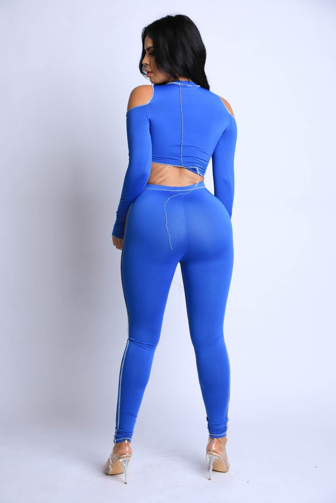 Load image into Gallery viewer, Reverse Cover Stitched Full Length Legging Set - MorphU LLC