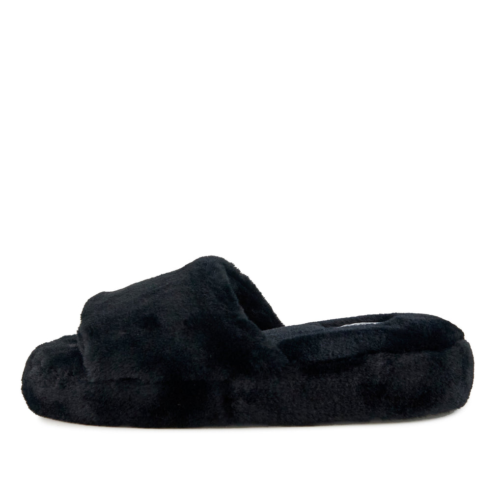 Women's Geneva Faux Fur Slipper Black