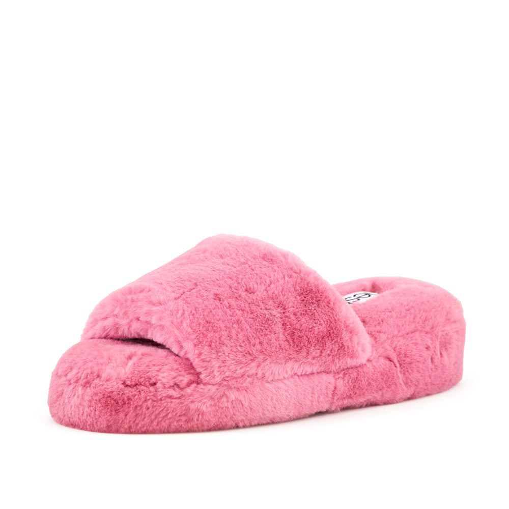 Women's Geneva Faux Fur Slipper Coral