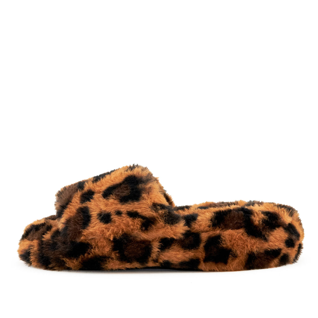 Women's Geneva Faux Fur Slipper Leopard