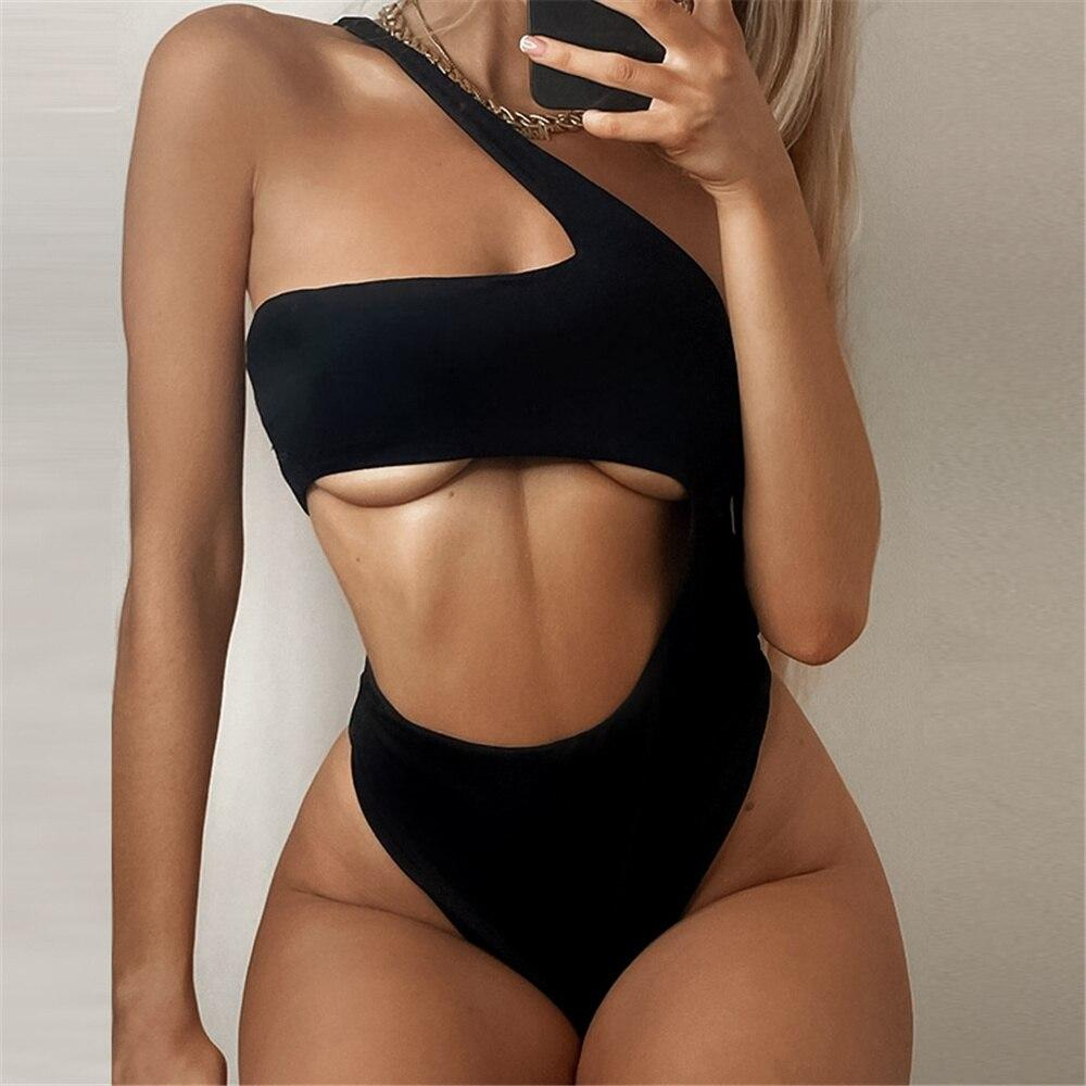 High Cut Thong Swimsuit One Piece