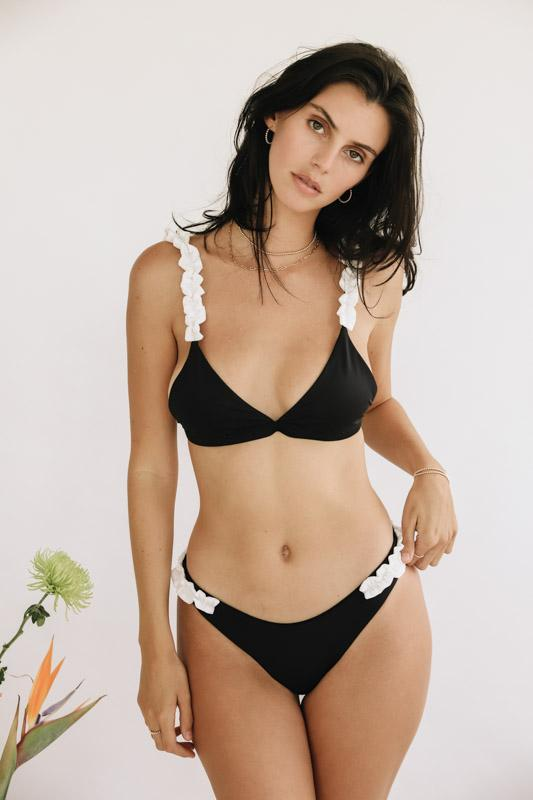 Chloe Black and White Chiffon Bottom - MorphU LLC