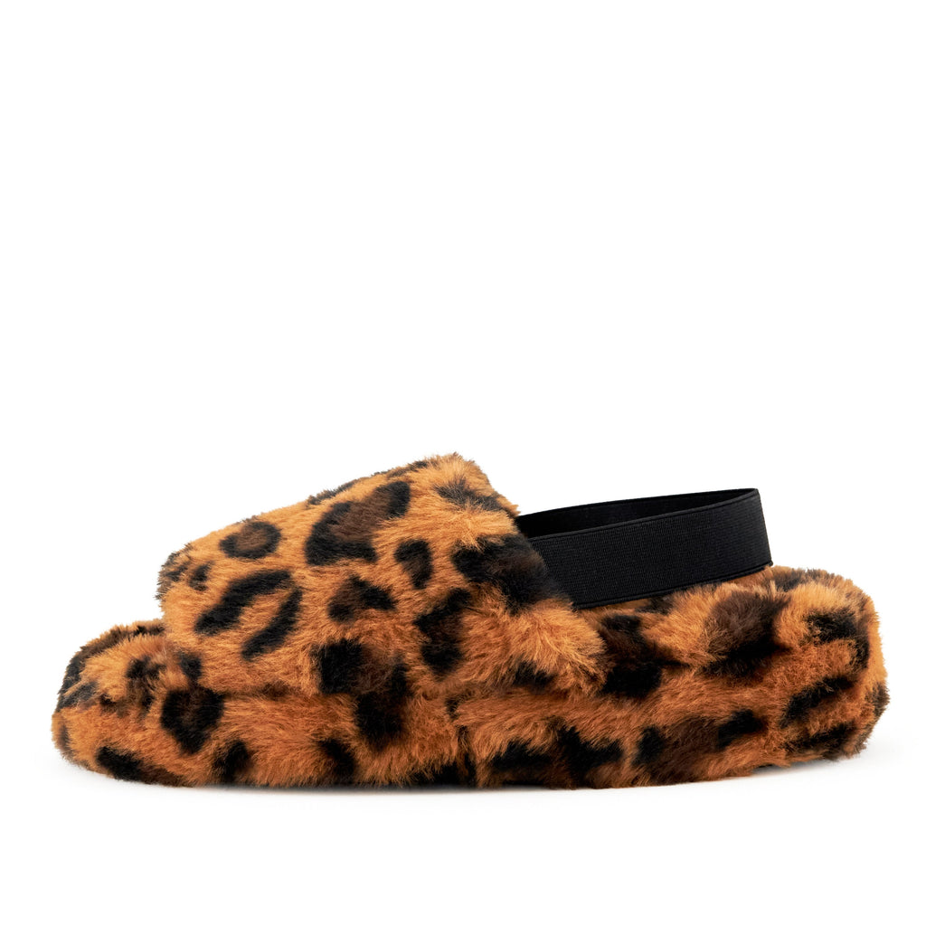 Women's Lisbon Faux Fur Slipper Leopard