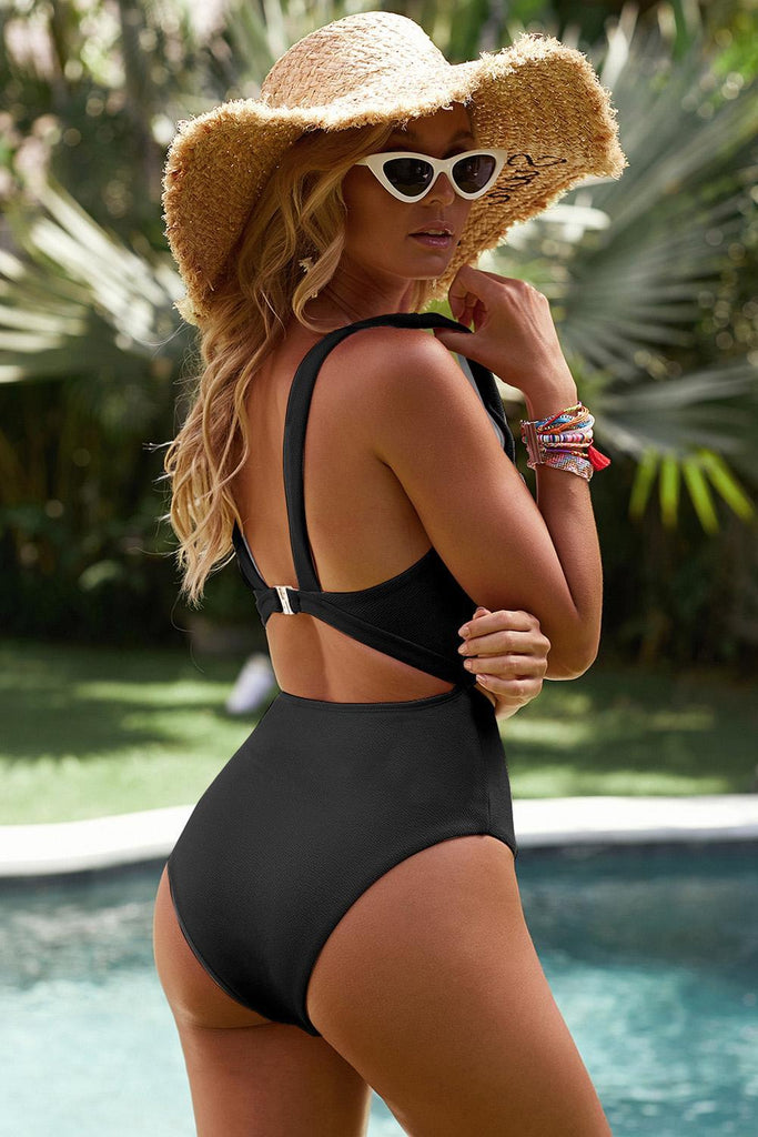 New Black Cut out One-piece Swimsuit - MorphU LLC