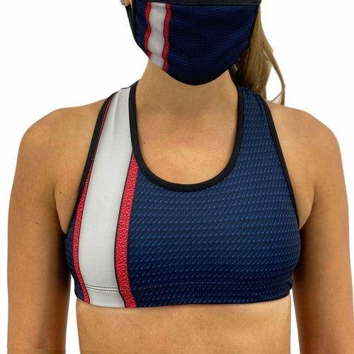 Load image into Gallery viewer, New England Football Sports Bra - MorphU LLC