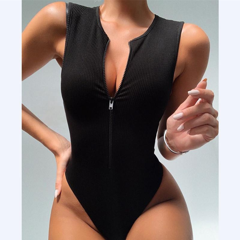 Load image into Gallery viewer, Women Sleeveless Slim Bodysuit