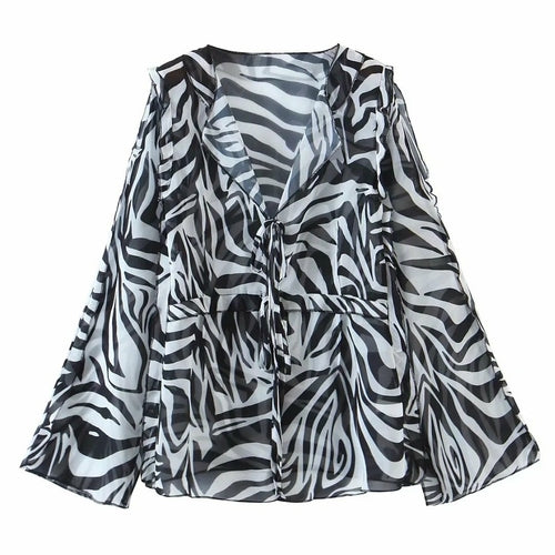 Load image into Gallery viewer, Zebra Printed Beach Cover Up - MorphU LLC
