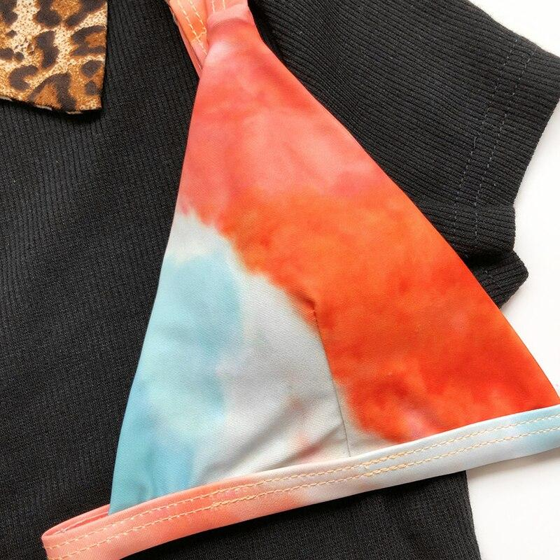 High Cut Swimsuit Women Tie Dye Swimwear