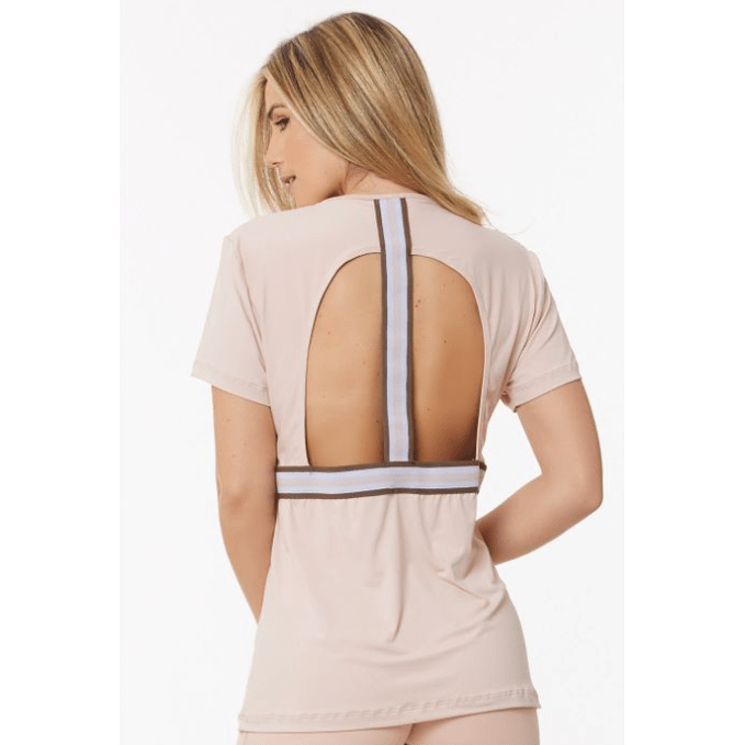 Load image into Gallery viewer, ADRIELLE BLUSH SHORT SLEEVE TOP - MorphU LLC
