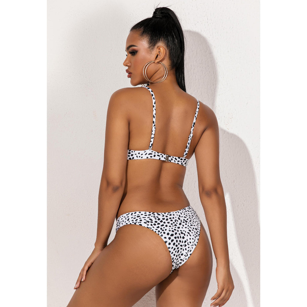 Push up Underwire Leopard Bikini