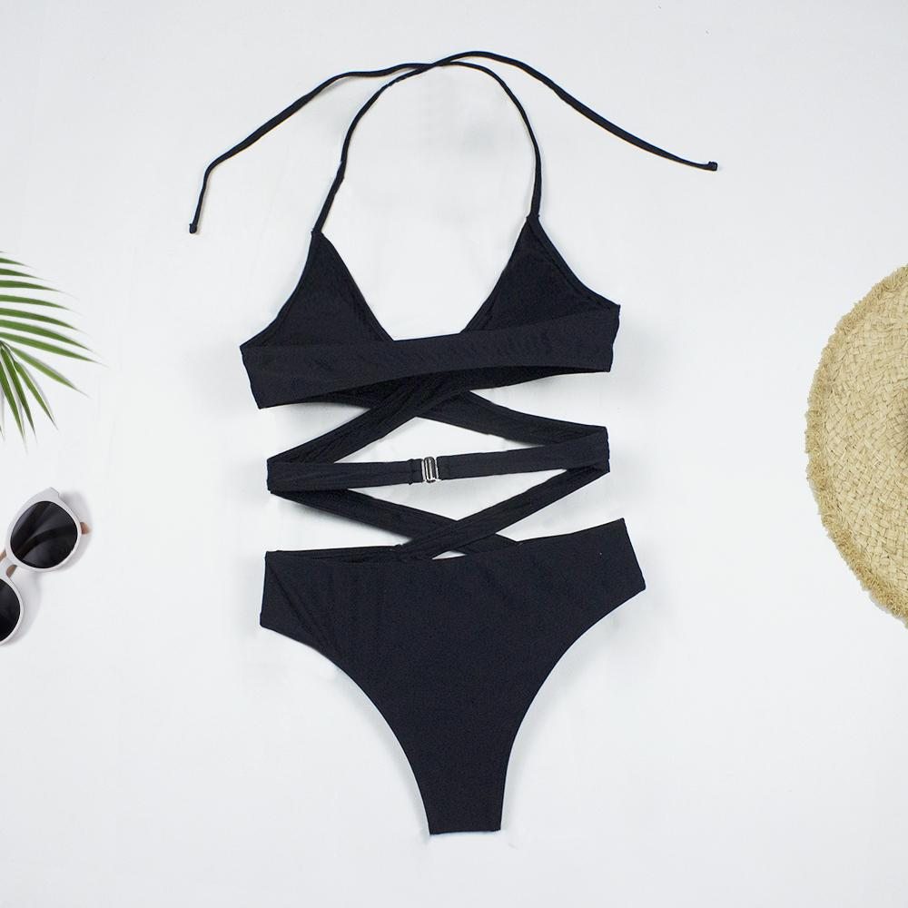 Sexy Cross Bandage Hollow Oit Swimsuit - MorphU LLC