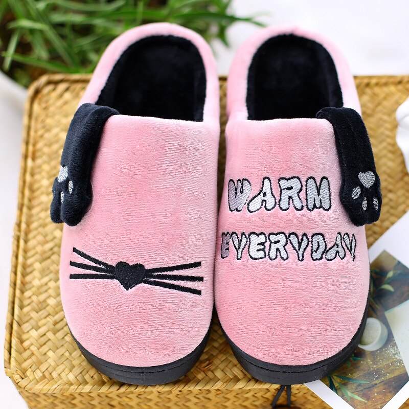 Women Slippers Winter New Couples Thick Bottom