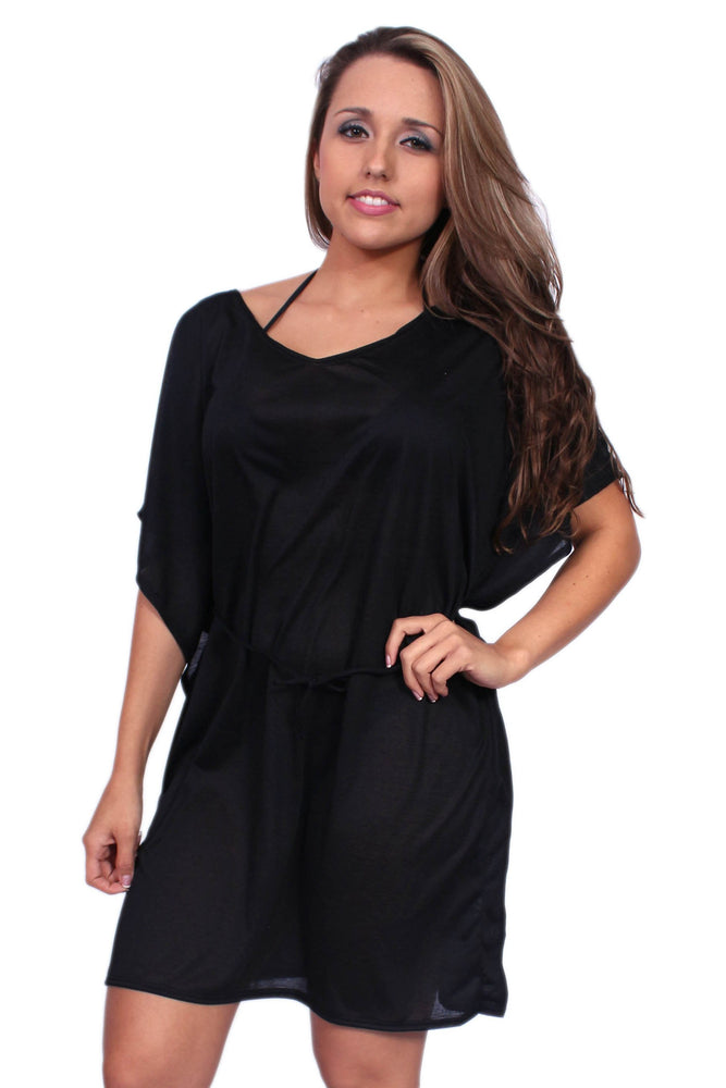 Load image into Gallery viewer, Women's Tie Waist Tunic Swimwear Cover-up Beach Dress Made in the USA