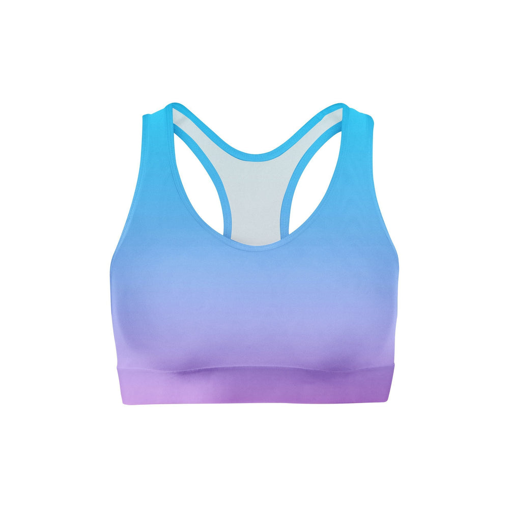 Blue Pink Ombre Sports Bra