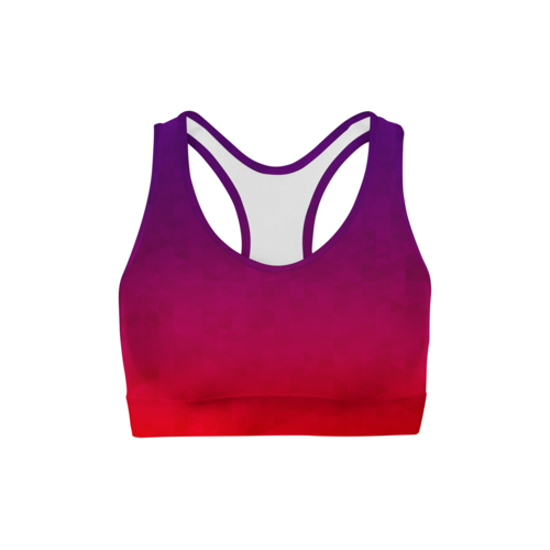 Stained Triangles Sports Bra - MorphU LLC