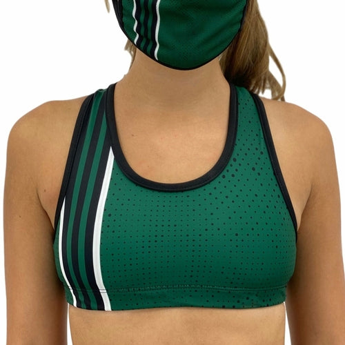 New York Green Football Sports Bra - MorphU LLC