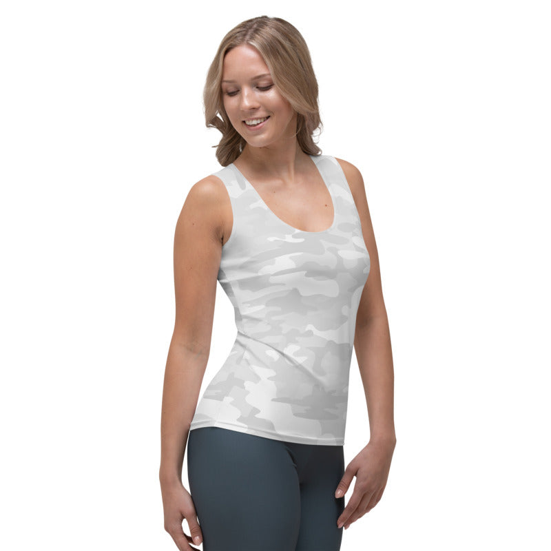White Camo Tank Top - MorphU LLC