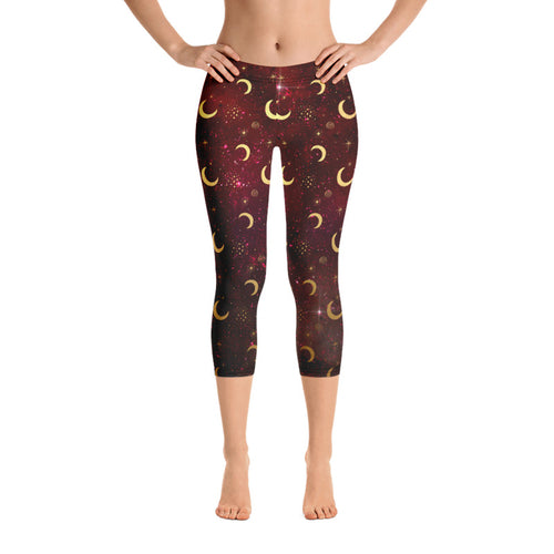 Crescent Moon Leggings, Capris and Shorts