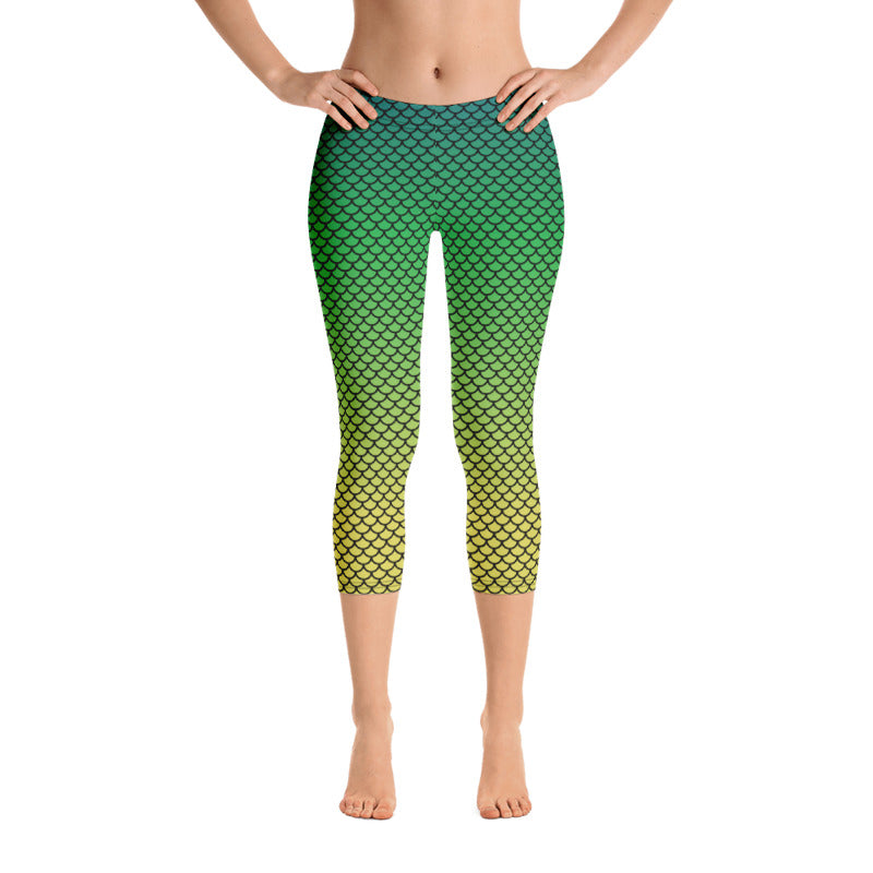 Ombre Mermaid Leggings, Capris and Shorts - MorphU LLC