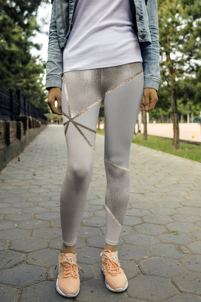 Seamless Metallic Geometry Leggings