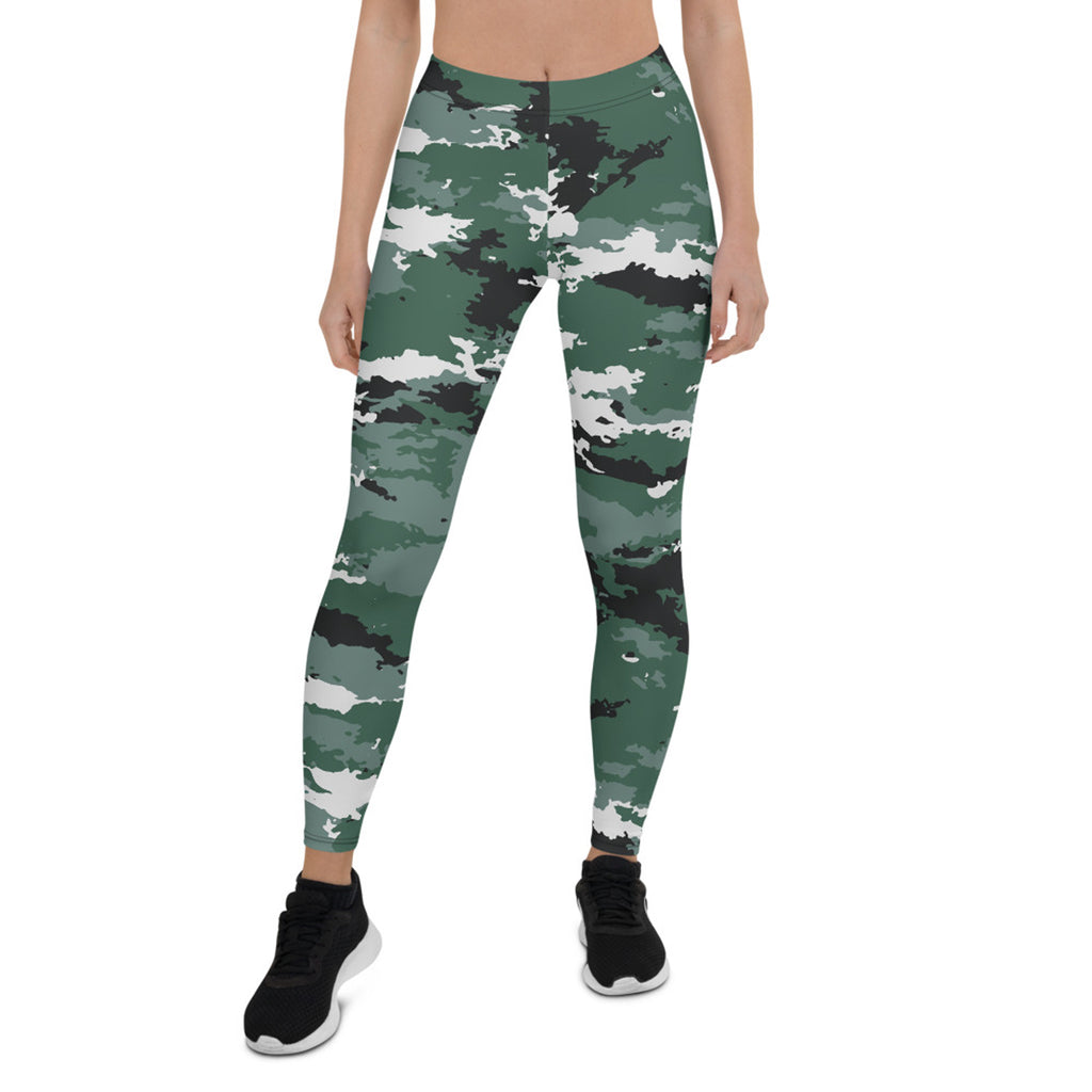 Load image into Gallery viewer, Earth Green Camo Leggings for Women - MorphU LLC